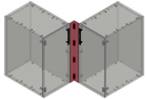 FOUCHARD - Fileur bas d'angle 90° (alignement façade)