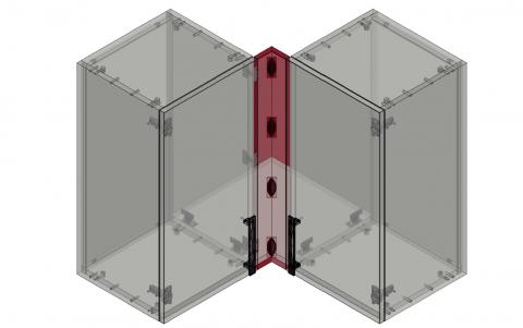 FOUCHARD - Fileur haut d'angle 90° (alignement façade)
