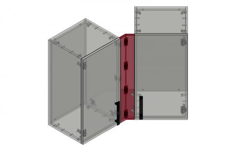 FOUCHARD - Fileur haut d'angle 135° (alignement façade)