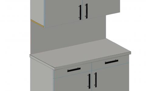 FOUCHARD - Sous-face de meuble haut (alignement corps)