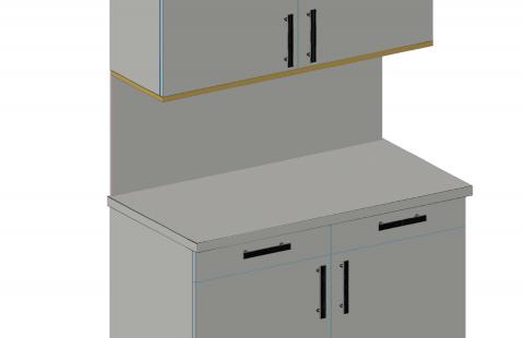 FOUCHARD - Sous-face de meuble haut (alignement façade)
