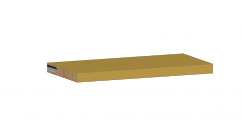FOUCHARD - Tablette fixe sur tasseaux invisibles