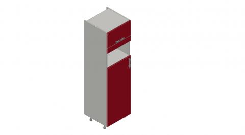 FOUCHARD - Armoire réfrigérateur et micro-ondes