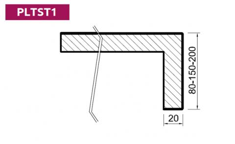 FOUCHARD - Plan de toilette Stratifié HPL avec profil droit