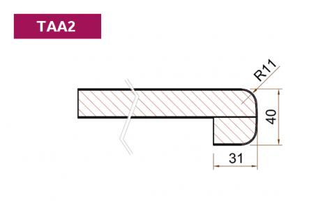 FOUCHARD - Tablette d'allège Stratifié HPL avec profil postformé